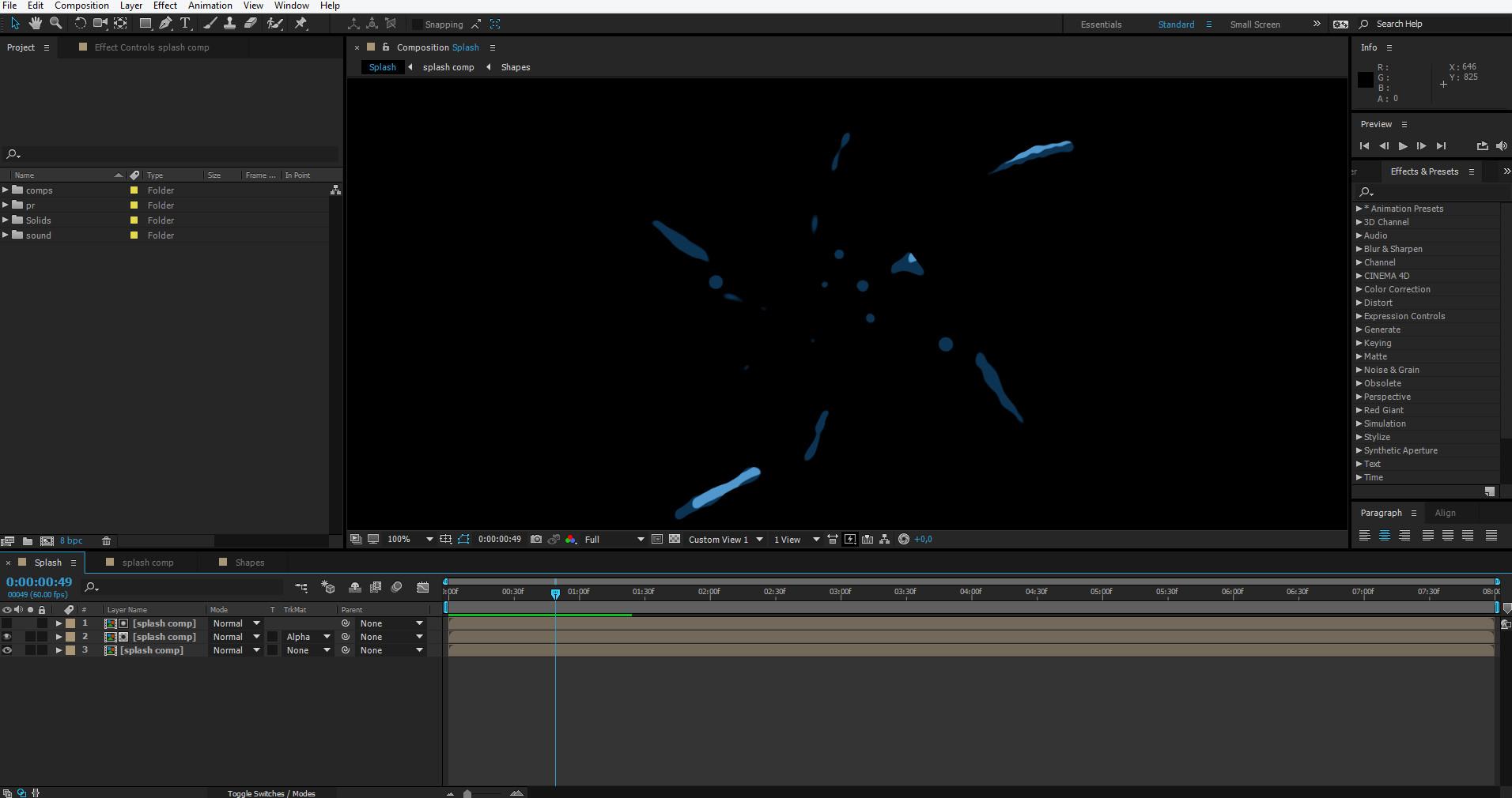 splash animation tutorial