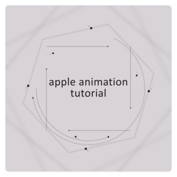 Apple animation After Effects tutorial