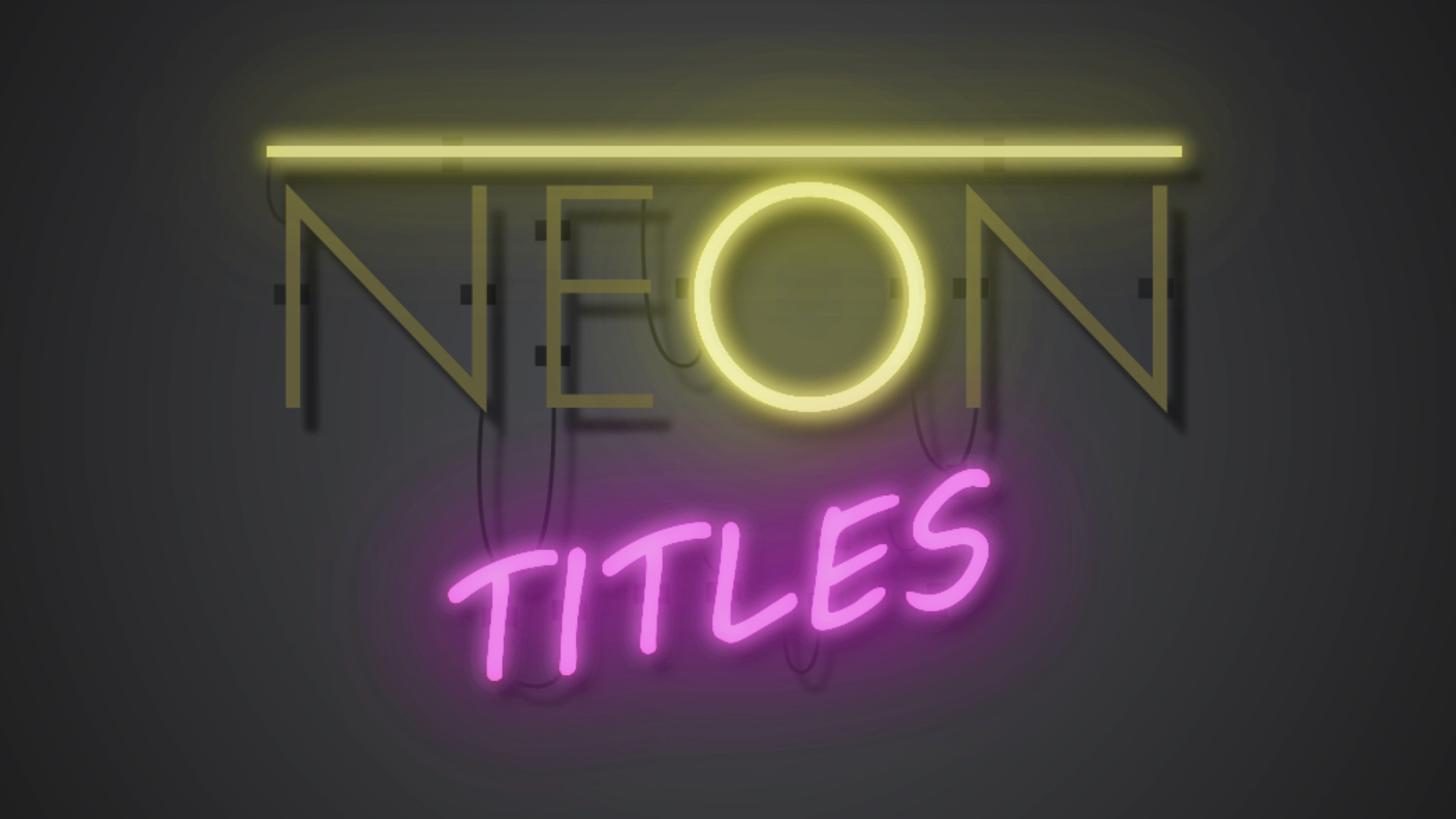neon text after effects tutorial