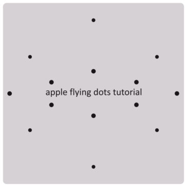 Apple animation tutorial. Flying dots