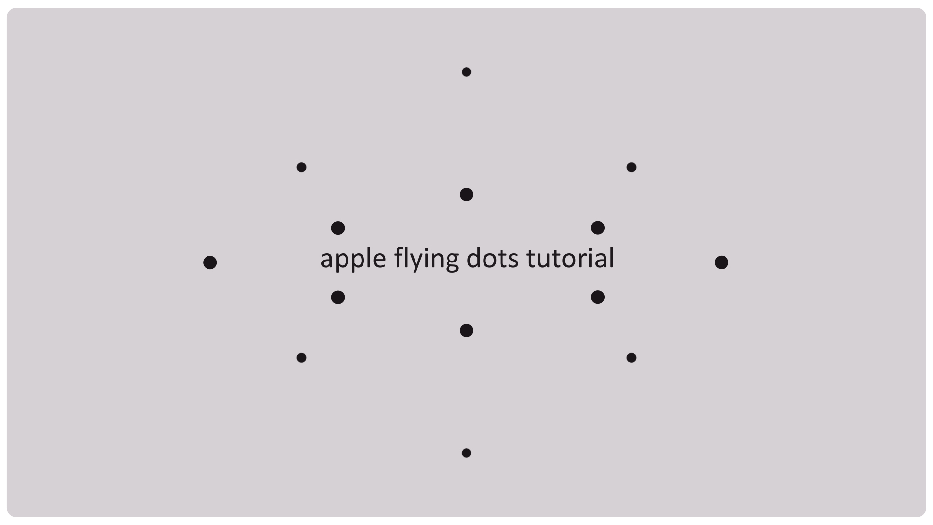 apple animation tutorial