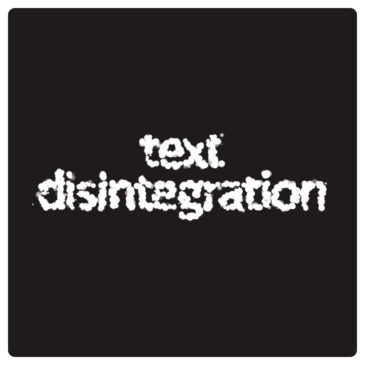 Apple tutorial. Text disintegration