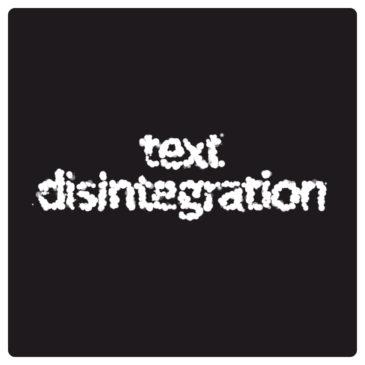 Apple tutorial. Text disintegration