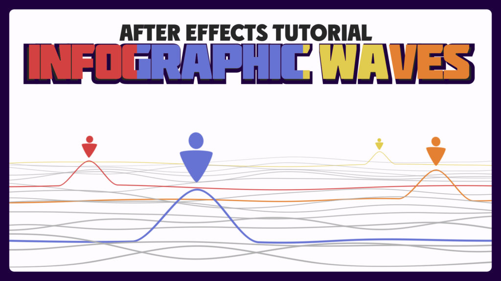 Infographic waves in after effects