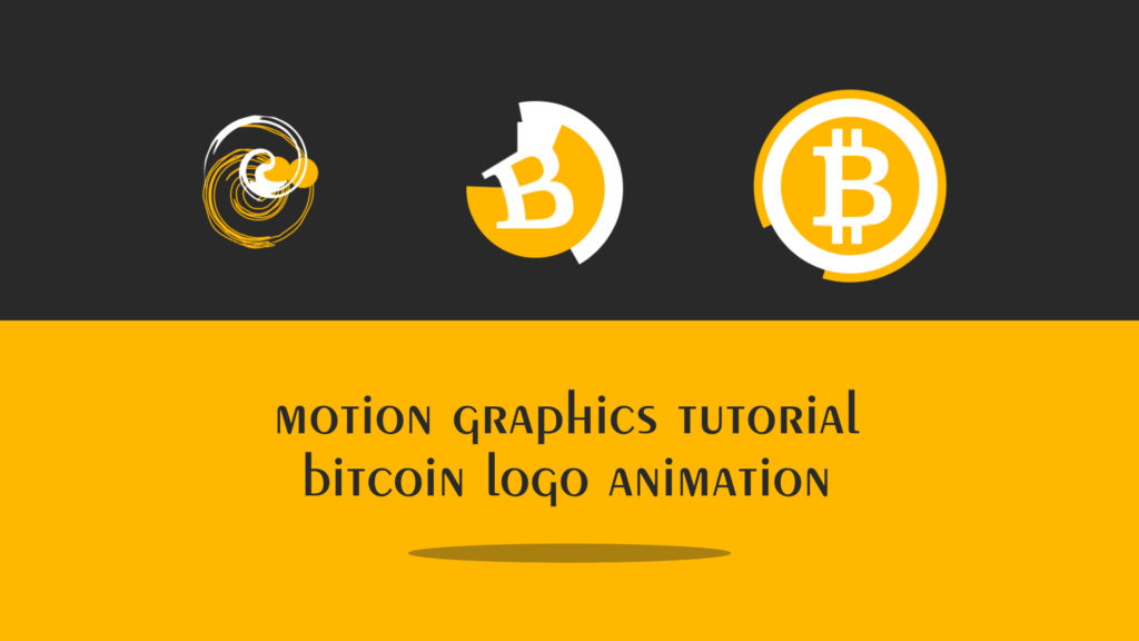 bitcoin logo animation tutorial
