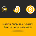 Motion graphics Bitcoin logo