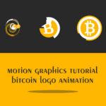 Motion graphics Bitcoin logo