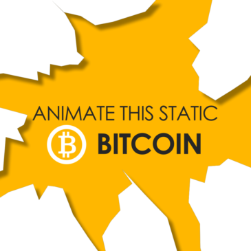 Bitcoin logo animation
