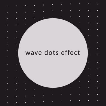 Apple animation Wave Dots Effect
