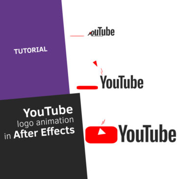 Youtube logo animation in After Effects
