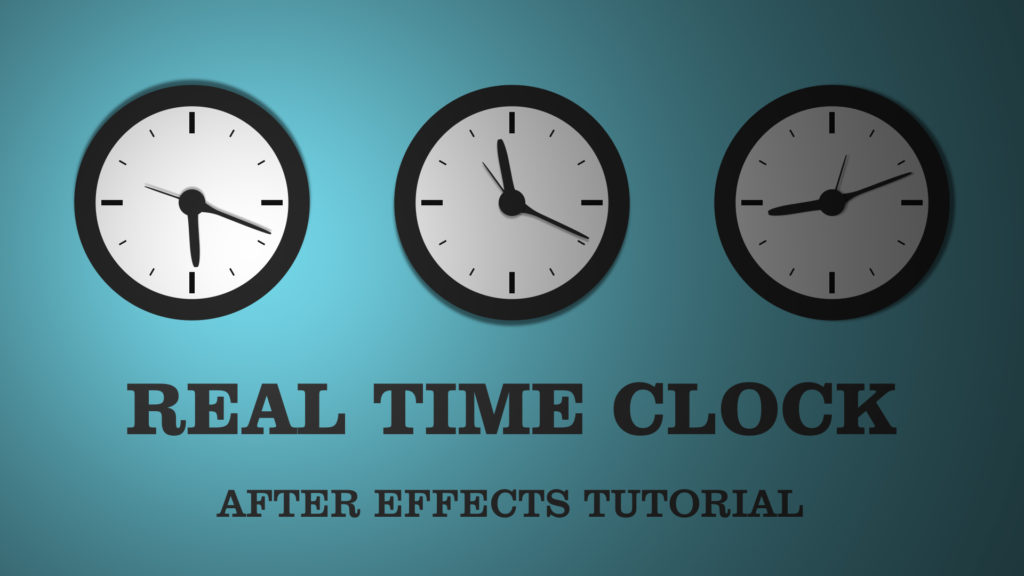 clock in after effects