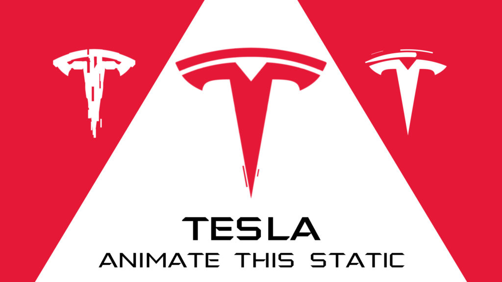 tesla logo animation