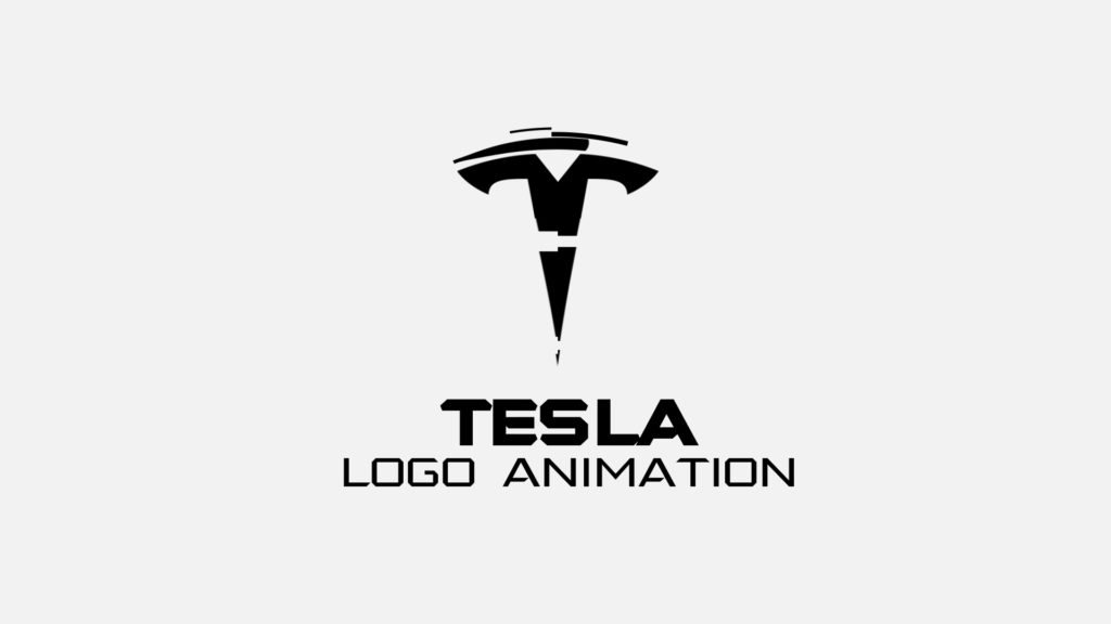 Tesla logo after effects
