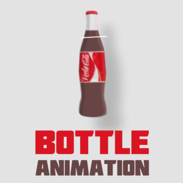 Spinning bottle animation