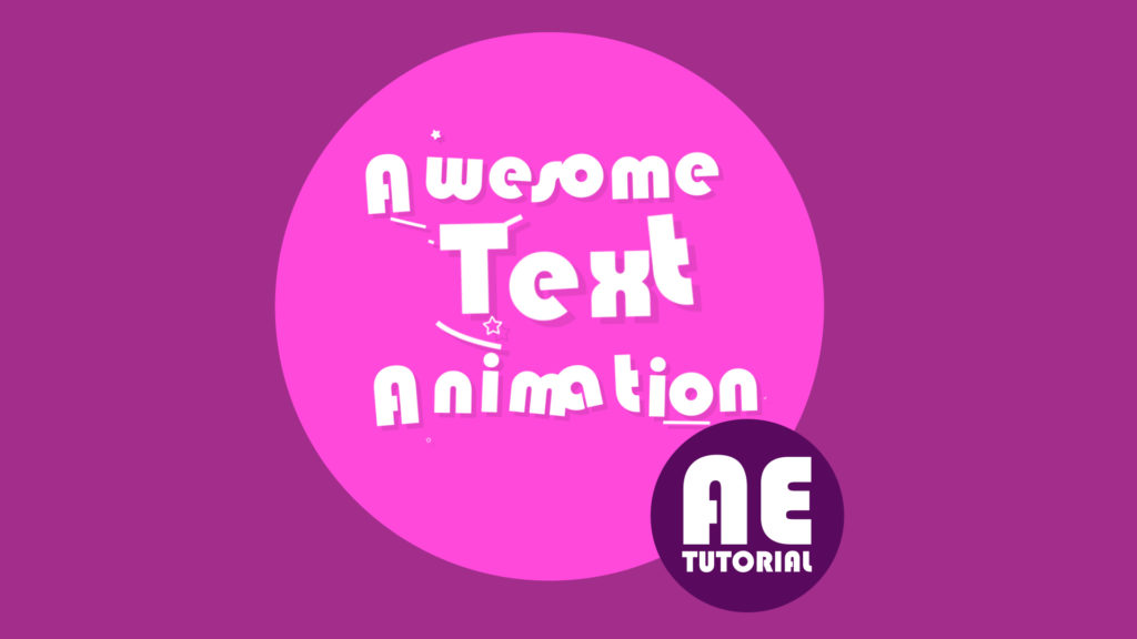 text animation After Effects