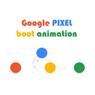 Google pixel boot animation