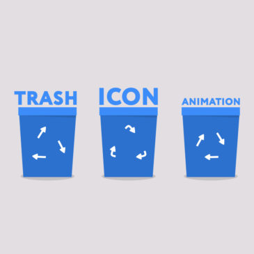Trash icon animation After Effects
