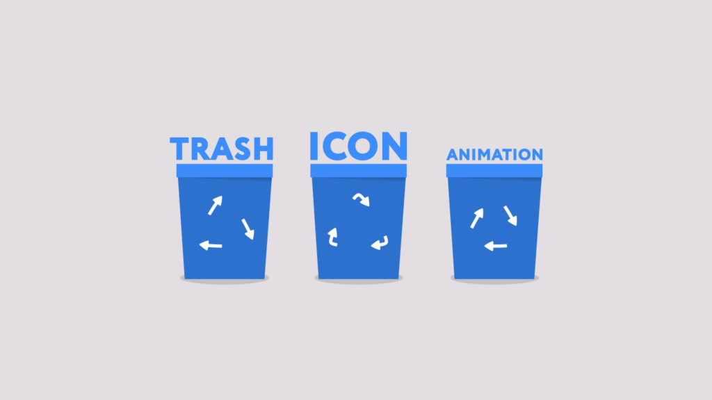 trash icon animation