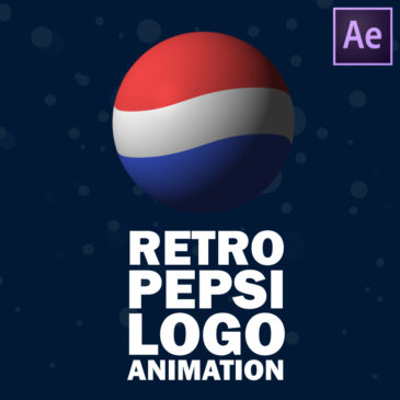 Retro Pepsi logo animation