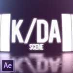 K/DA scene in After Effects