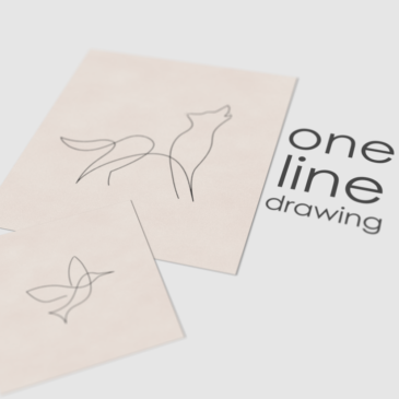 One line drawing animation