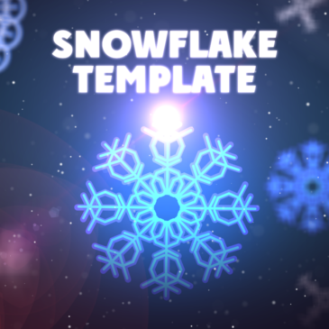 Create an animated snowflake template
