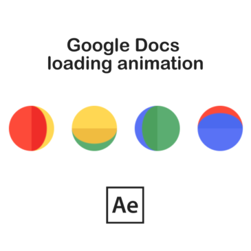 Google Docs animation in After Effects