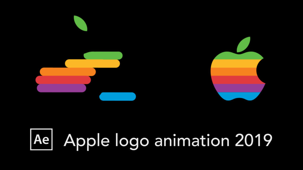 old Apple logo animation