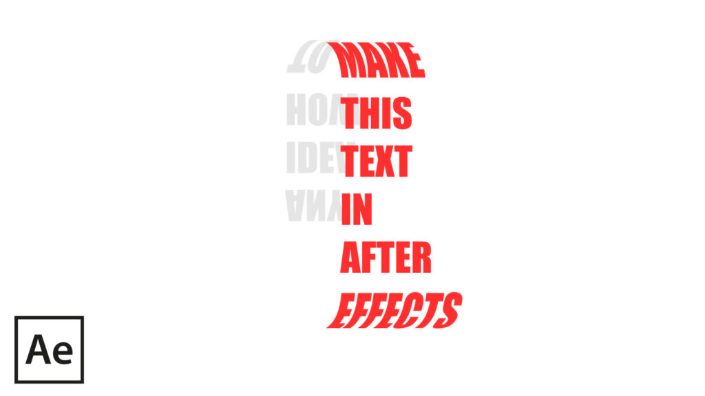circle text after effects