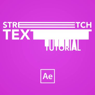 Stretching text animation