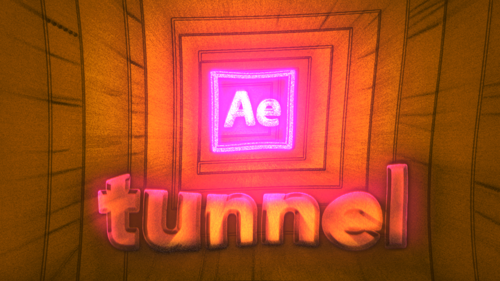 tunnel After Effects tutorial