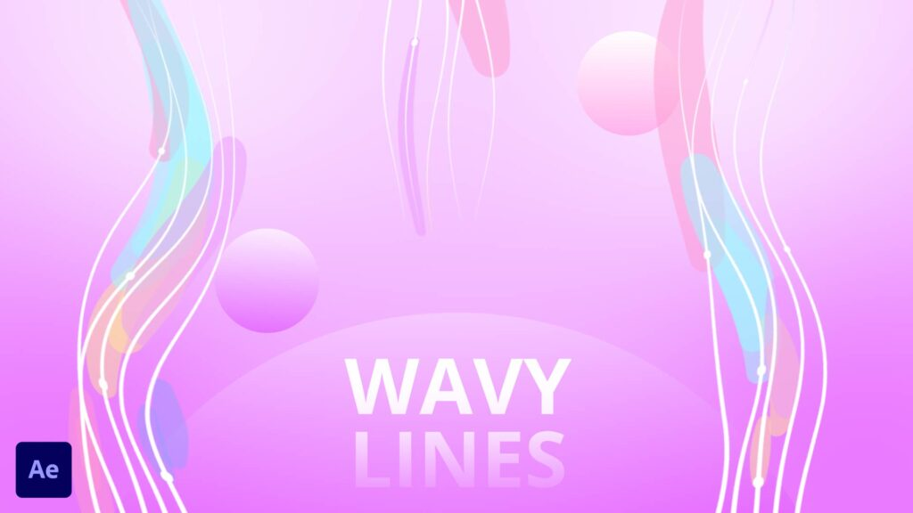 Wavy lines after effects animation