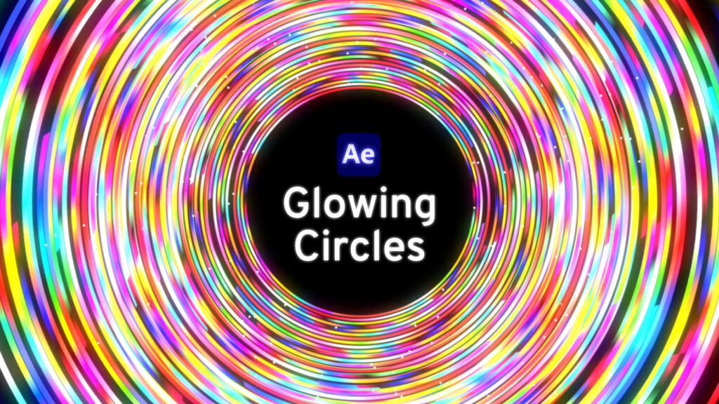 Glowing circles in After Effects